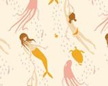 Heather Ross 20th Anniversary - Underwater Sister Mermaid from Windham Fabrics