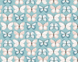 Wanderings - Butterfly Blue by Jina Barney and Lori Woods from Poppie Cotton Fabric