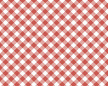 Prairie Sisters - Gingham Red from Poppie Cotton Fabric
