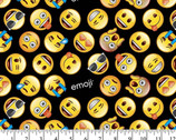 Emoji Black from David Textiles Fabrics