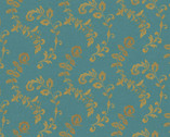 Spice Medallion Teal from David Textiles Fabrics
