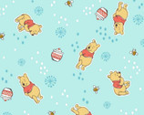 Winnie the Pooh - Pooh  Honeypot Aqua by Disney from Springs Creative Fabric