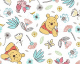 Winnie the Pooh - Pooh Piglet Floral Butterfly by Disney from Springs Creative Fabric