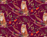 Fox Wood - Curious Fox Plum by Betsy Olmsted from Windham Fabrics