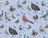 Fox Wood - Bird Season Blue by Betsy Olmsted from Windham Fabrics