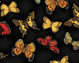 Poppy Poetry - Butterfly Black from Clothworks Fabric