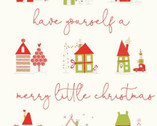 Merry Little Christmas PANEL - Cream 36 Inches from Riley Blake Fabric