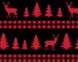 Deer Trees Plaid Stripe from David Textiles Fabrics