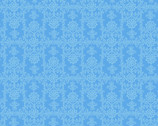 Frida's Damask Blue from David Textiles Fabrics