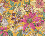 Memoire A Paris - Dainty Floral Bloom Golden Orange from Lecien Fabric