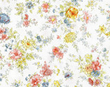 Memoire A Paris - Floral White from Lecien Fabric