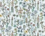 Memoire A Paris - Wildflower Pearl Floral Azure Mist from Lecien Fabric