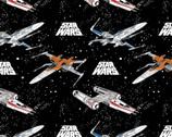 Star Wars Battle Ships Black from Camelot Fabrics