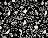 Harvest Moon - Ghostly Vine Black by Grace Popp from Studio E Fabrics