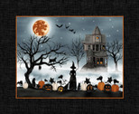 Harvest Moon - Scenic 35 Inch PANEL by Grace Popp from Studio E Fabrics