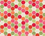 Make Yourself At Home - Hexagons Red Green by Kim Christopherson from Maywood Studio Fabric