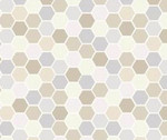 Make Yourself At Home - Hexagons Taupe Gray by Kim Christopherson from Maywood Studio Fabric