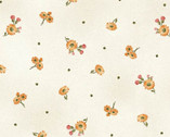 A Fruitful Life - Little Toss Daisies Dot Cream from Maywood Studio Fabric