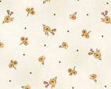 A Fruitful Life - Little Toss Daisies Dot Cream from Maywood Studio Fabric