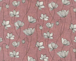 Handworks - Floral Pink Cotton Linen Sheeting from Elite Fabric