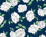 Embrace Rose Garden Cobalt DOUBLE GAUZE from Shannon Fabrics