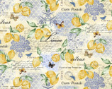 Limoncello Citrons -  Lemons Text from Michael Miller Fabric