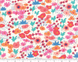 Botanica - Small Florals Meadow Porcelain Natural by Crystal Manning from Moda Fabrics