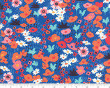 Botanica - Small Florals Meadow Dark Blue by Crystal Manning from Moda Fabrics