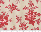 Northport - Floral Stripe Red by Minick and Simpson from Moda Fabrics