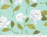 Goldenrod - Raleigh Floral Aqua by One Canoe Two from Moda Fabrics