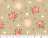 Harpers Garden - Floral Tan Taupe by Sherri and Chelsi from Moda Fabrics
