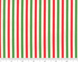Essentially Yours - Stripes Lipstick Christmas Red Green from Moda Fabrics