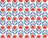 Rosa LAWN - Red Tulips from Monaluna Fabrics