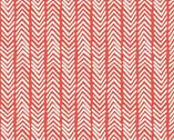 Herringbone Warm Red CANVAS from Monaluna Fabrics