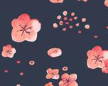 Cherry Blossoms Dusk LAWN from Monaluna Fabrics