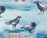 Blackbird Blue POPLIN from Monaluna Fabrics