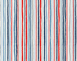 Sail Away - Chalk Stripe Blue Red from Makower UK  Fabric