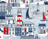 Sail Away - Sail Away Harbour Multi from Makower UK  Fabric