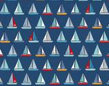 Sail Away - Yachts Blue from Makower UK  Fabric
