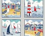 Sail Away - Sail Away PANEL 24 Inches from Makower UK  Fabric