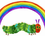 The Very Hungry Caterpillar -  Rainbow PANEL 24 Inches by Eric Carle from Andover Fabrics
