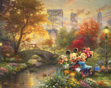 Disney Dreams - Central Park Mickey Minnie PANEL 35 Inches from Four Seasons Fabric