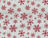 Rustic Village Christmas - Wood Snowflake Stone Red from Benartex Fabrics