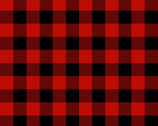 Timber Gnomies - Buffalo Check Black Red by Shelly Comiskey from Henry Glass Fabric