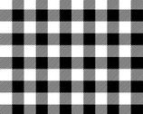 Timber Gnomies - Buffalo Check Black White by Shelly Comiskey from Henry Glass Fabric