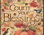 Harvest - Count Your Blessings PANEL 35 Inch from Springs Creative Fabric