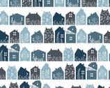 Gingham Farmhouse - Farmhouse Row Navy Blue from Poppie Cotton Fabric
