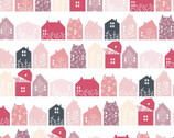 Gingham Farmhouse - Farmhouse Row Pink from Poppie Cotton Fabric