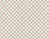 Gingham Farmhouse - Lattice Floral Pink from Poppie Cotton Fabric