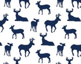 Embrace - Deer to Me Cobalt Blue from Shannon Fabrics